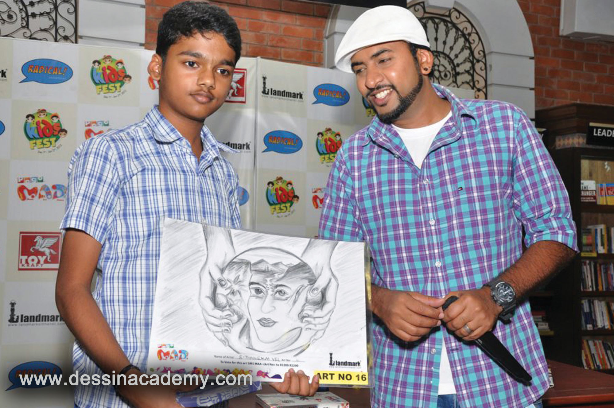 Dessin School of Arts Students Acheivement 5, KGK Play School, Portrait Drawing classes For Kids in Aminjikarai