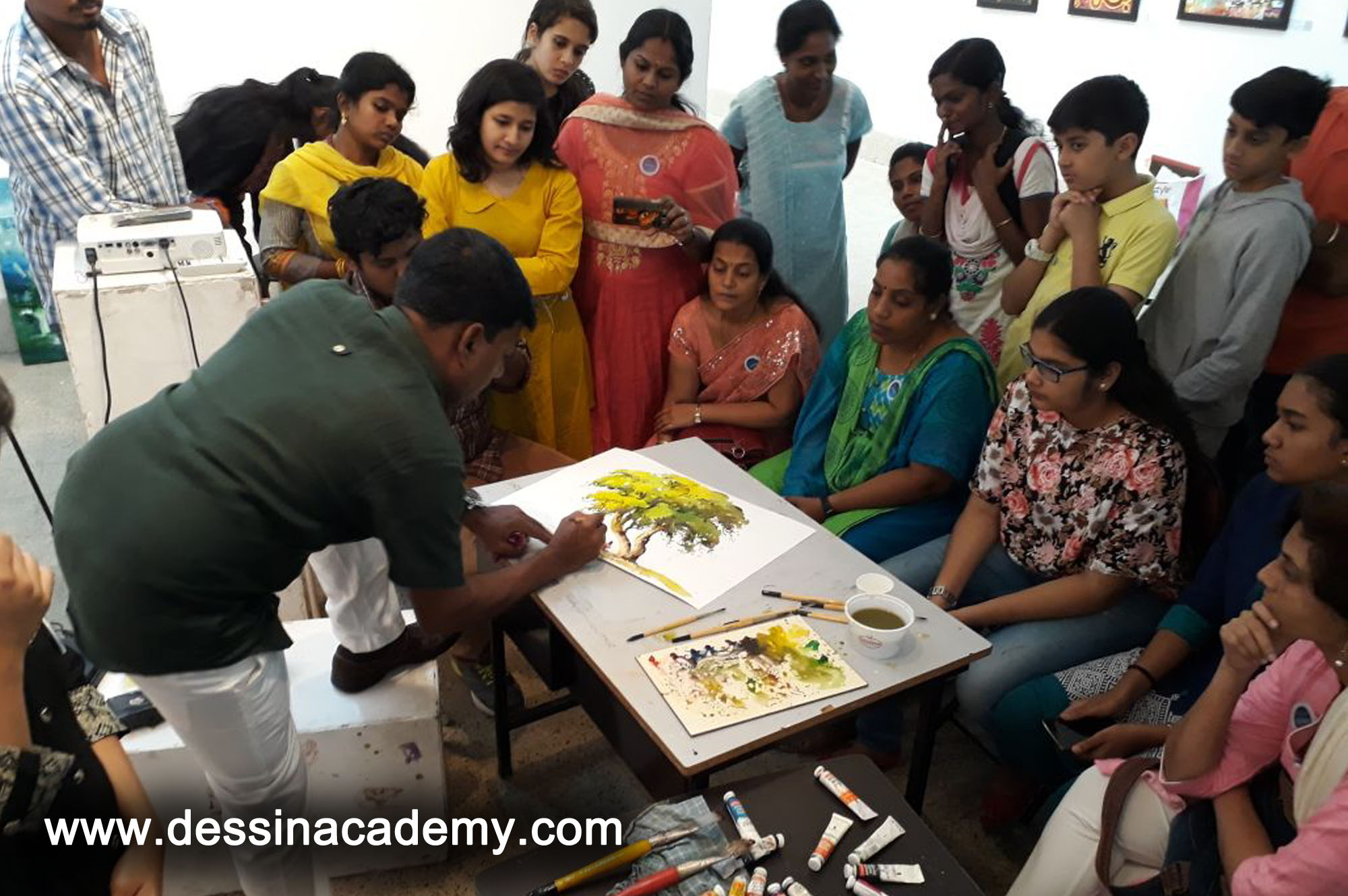 Dessin School of arts Event Gallery 6, Drawing Coaching for adults in AdhanurMom s Care Play School