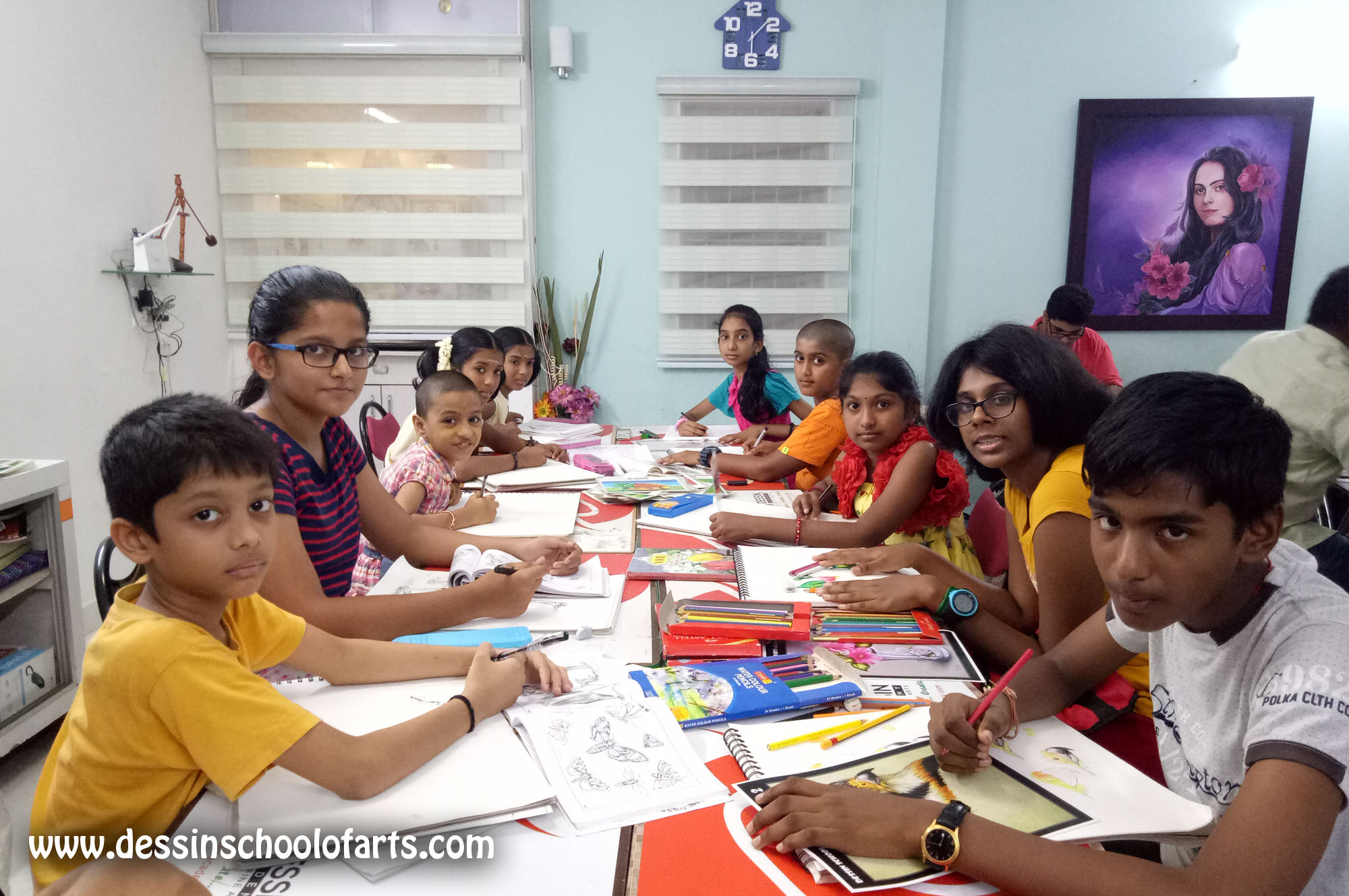 Dessin School of Arts, Dessin School of Arts, part time fine arts courses classes in Anna Nagar East L Block Class Room Photo 2