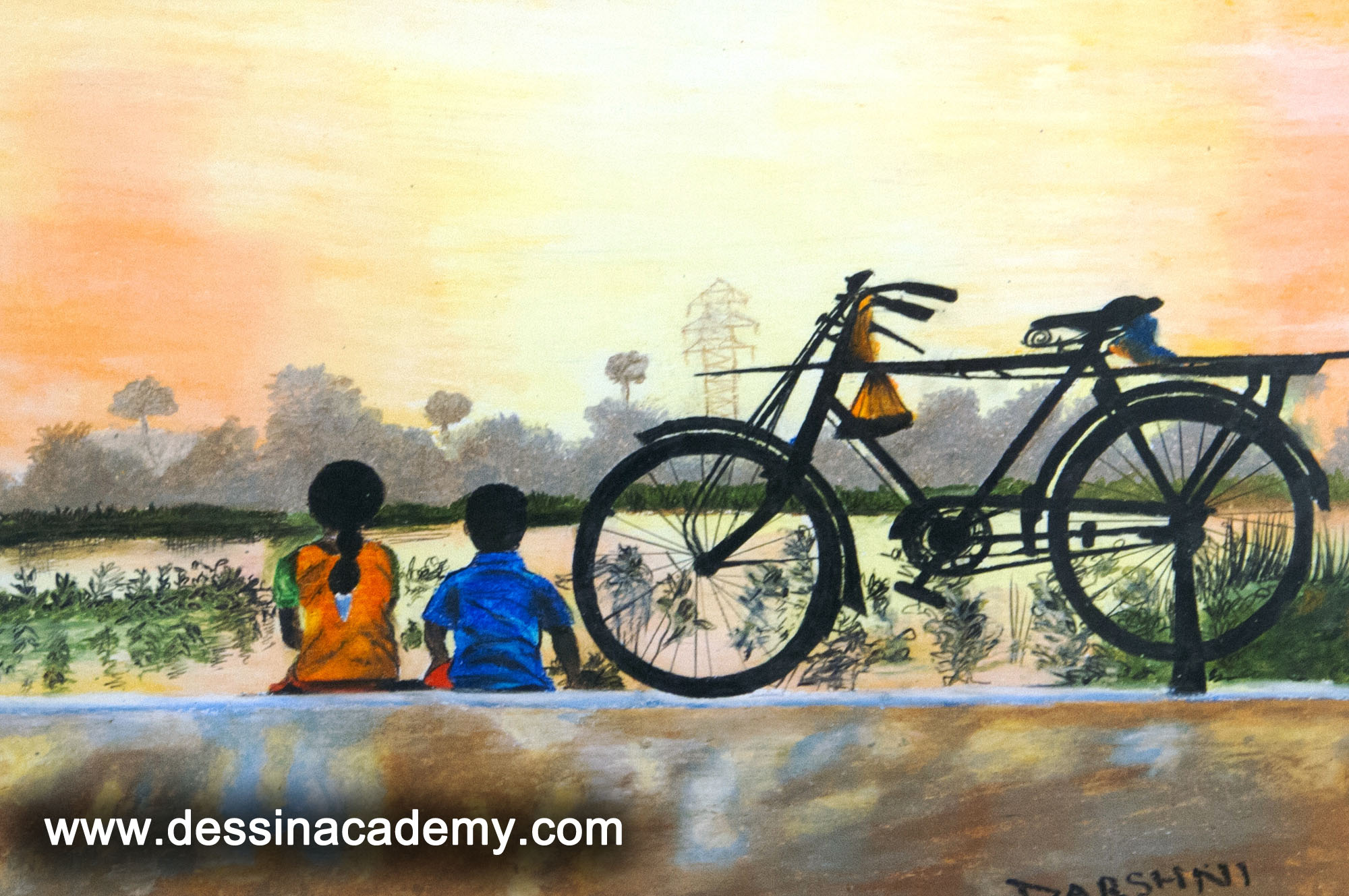 Dessin School of Arts Students Painting, Dessin School of Arts, Pencil Drawing Coaching in Anna Nagar East L Block